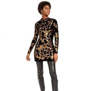 INC Sequined Mock-Neck Sweater